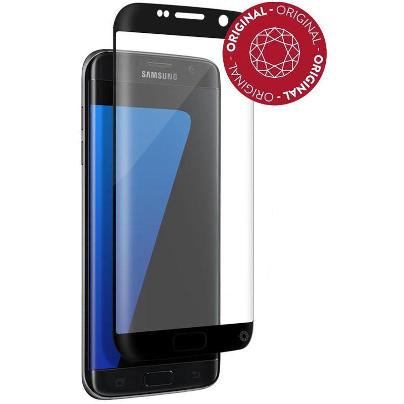 Film protecteur téléphone Force Glass Verre Trempé contour noir Galaxy S7 Edge Protège-écran contour noir en verre trempé pour Samsung Galaxy S7 Edge