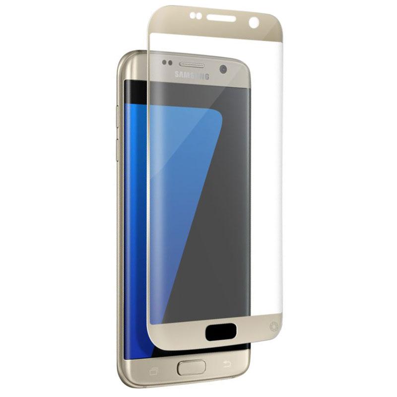 Film protecteur téléphone Force Glass Verre Trempé contour or Galaxy S7 Edge Protège-écran contour or en verre trempé pour Samsung Galaxy S7 Edge