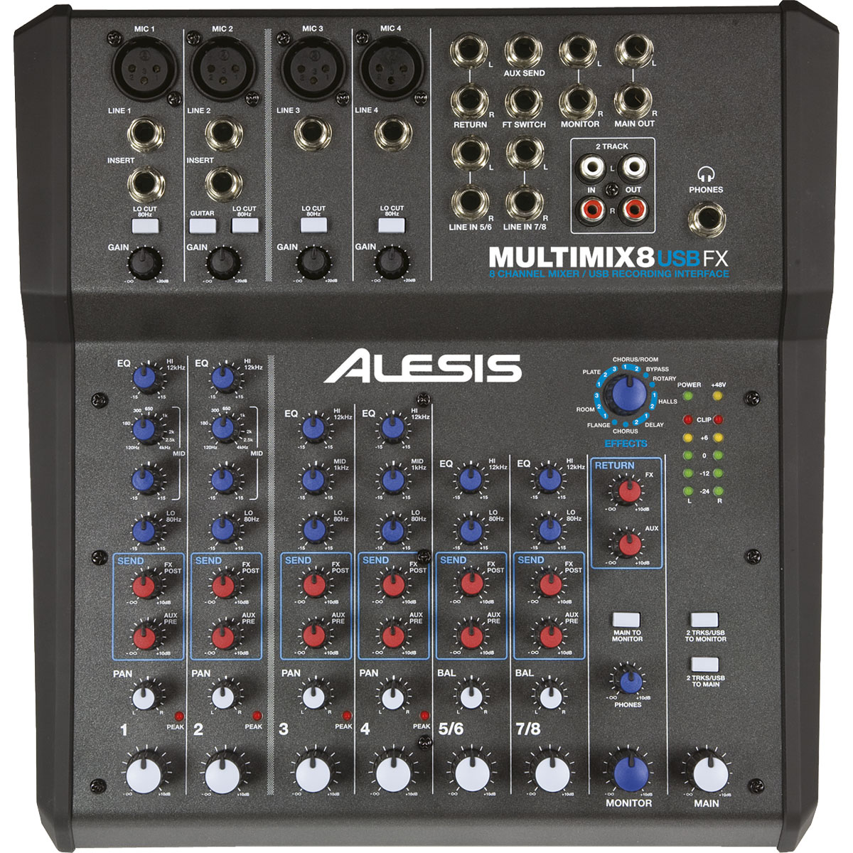 Alesis multimix 8 usb fx table de mixage alesis sur for Table de mixage xpress 6 keywood