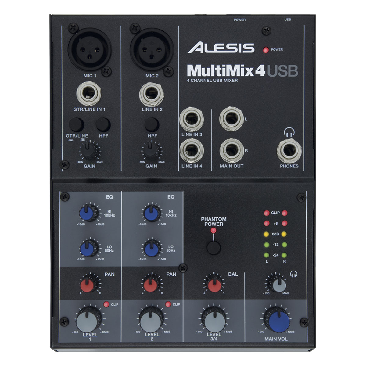 Alesis multimix 4 usb table de mixage alesis sur for Table de mixage xpress 6 keywood