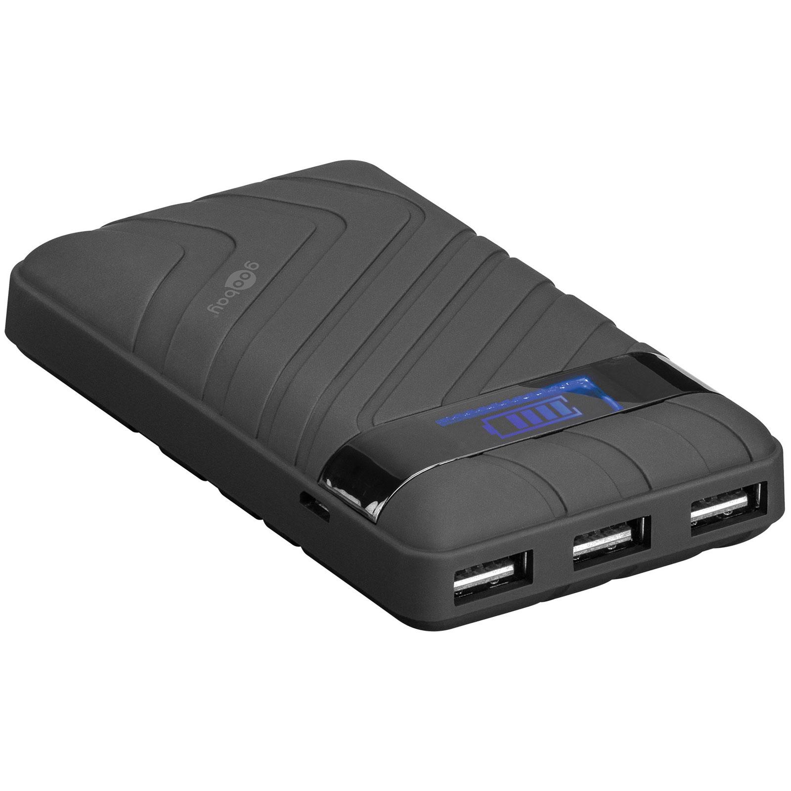 power bank 18000 mah 5v 2a avec 3 ports usb 2 0 et cran lcd batterie externe g n rique sur. Black Bedroom Furniture Sets. Home Design Ideas