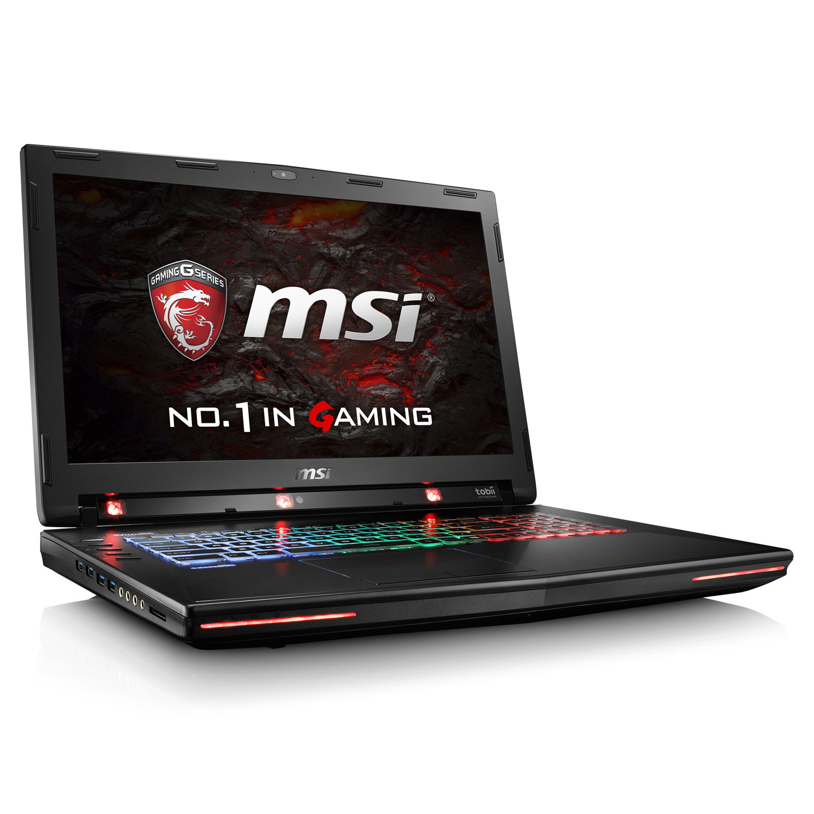 "PC portable MSI GT72VR 6RE-011FR Dominator Pro Tobii Intel Core i7-6700HQ 16 Go SSD 256 Go + HDD 1 To 17.3"" LED Full HD G-Sync NVIDIA GeForce GTX 1070 8 Go Graveur DVD Wi-Fi AC/Bluetooth Webcam Windows 10 Famille 64 bits (garantie constructeur 2 ans)"