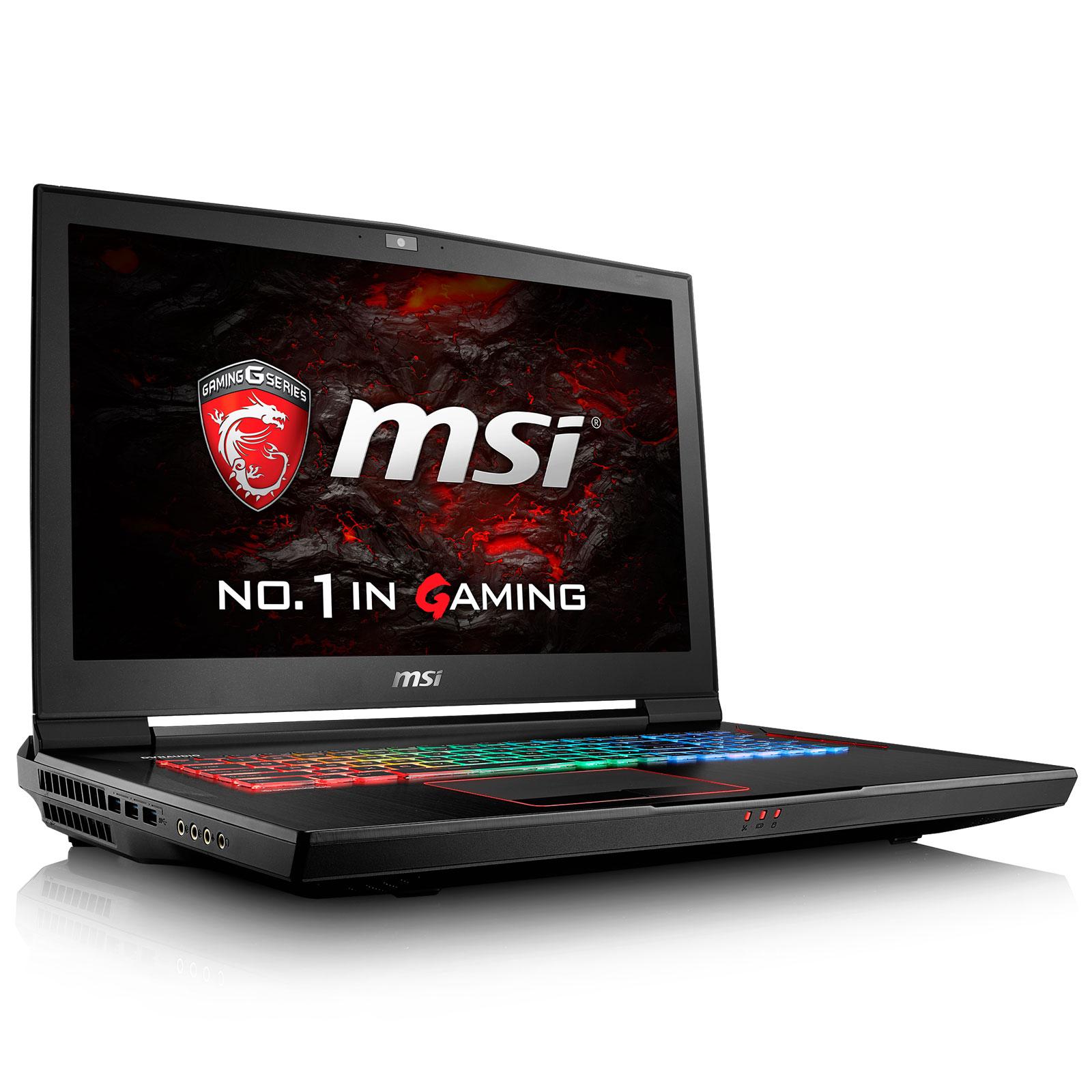 "PC portable MSI GT73VR 6RF-258FR Titan Pro Intel Core i7-6700HQ 16 Go SSD 256 Go + HDD 1 To 17.3"" LED Full HD 120 Hz NVIDIA GeForce GTX 1080 Wi-Fi AC/Bluetooth Webcam Windows 10 Famille 64 bits (garantie constructeur 2 ans)"