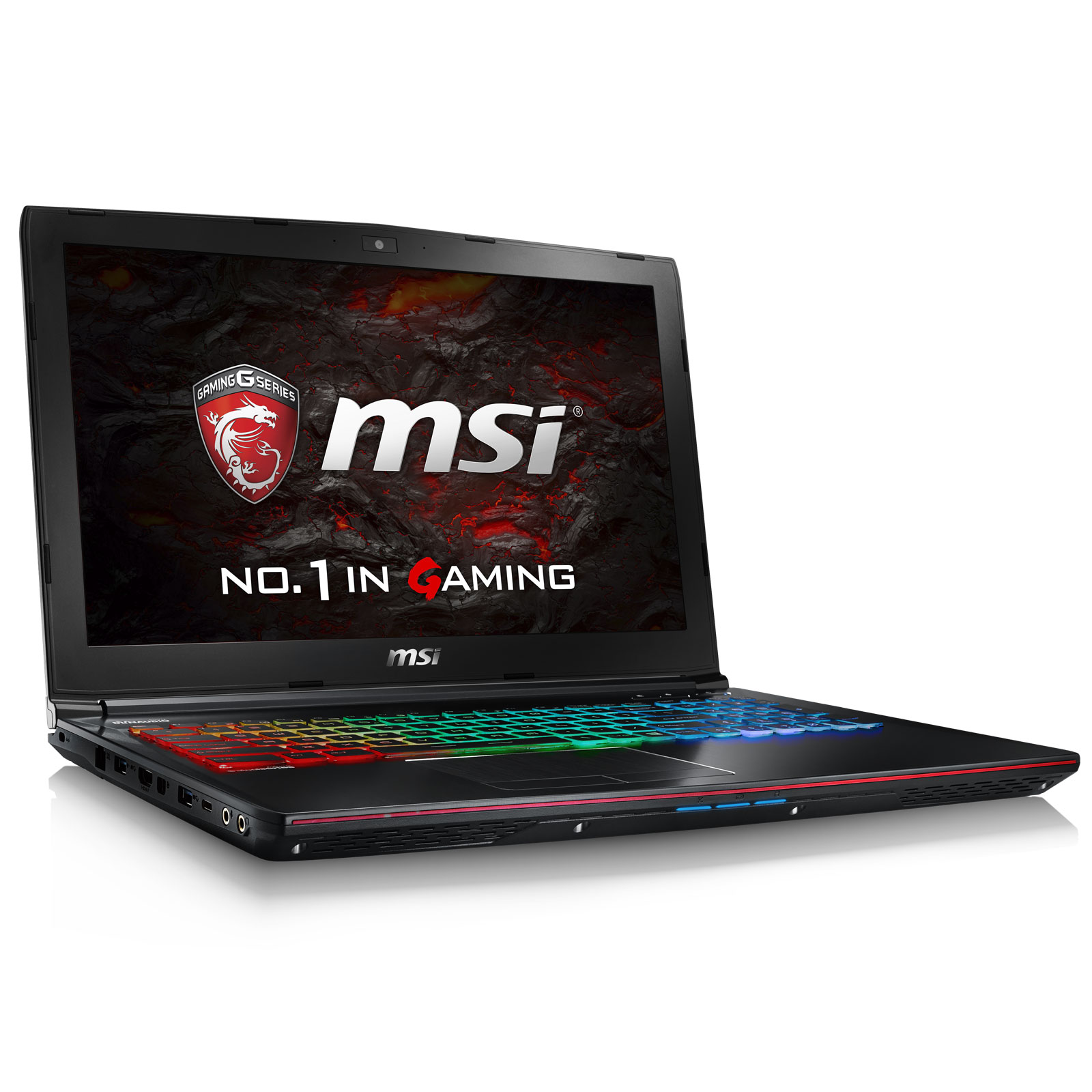 "PC portable MSI GE62VR 6RF-017XFR Apache Pro Intel Core i7-6700HQ 16 Go SSD 256 Go + HDD 1 To 15.6"" LED Full HD NVIDIA GeForce GTX 1060 6 Go Graveur DVD Wi-Fi AC/Bluetooth Webcam Free DOS (garantie constructeur 2 ans)"
