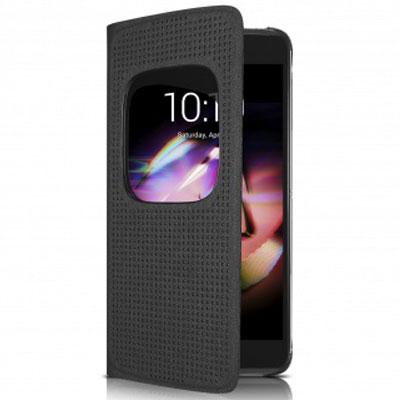 Etui téléphone Alcatel Matrix Flip Case Noir Alcatel Idol 4 Etui folio pour Alcatel Idol 4