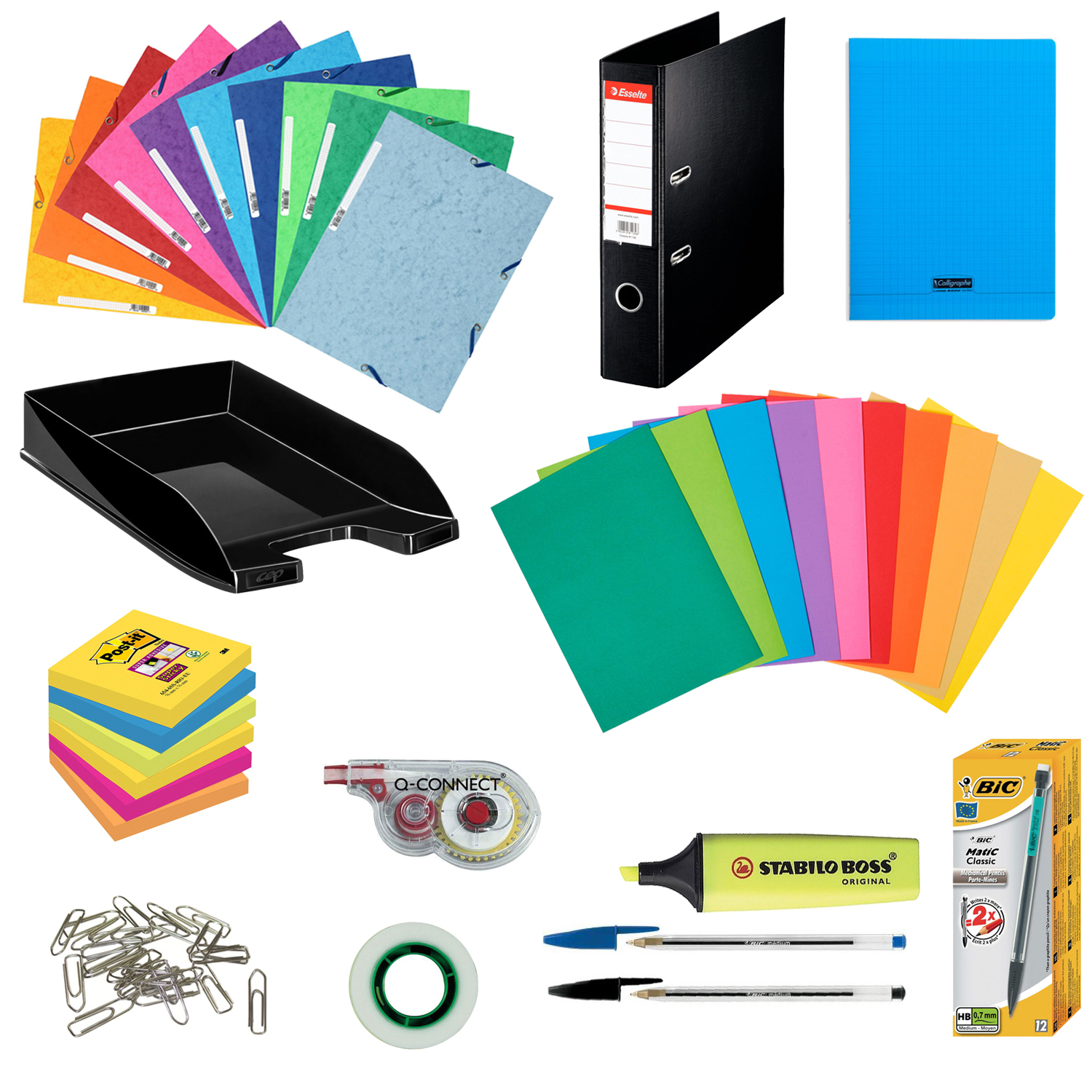 Pack fournitures office kits papeterie g n rique sur for Fourniture bureau