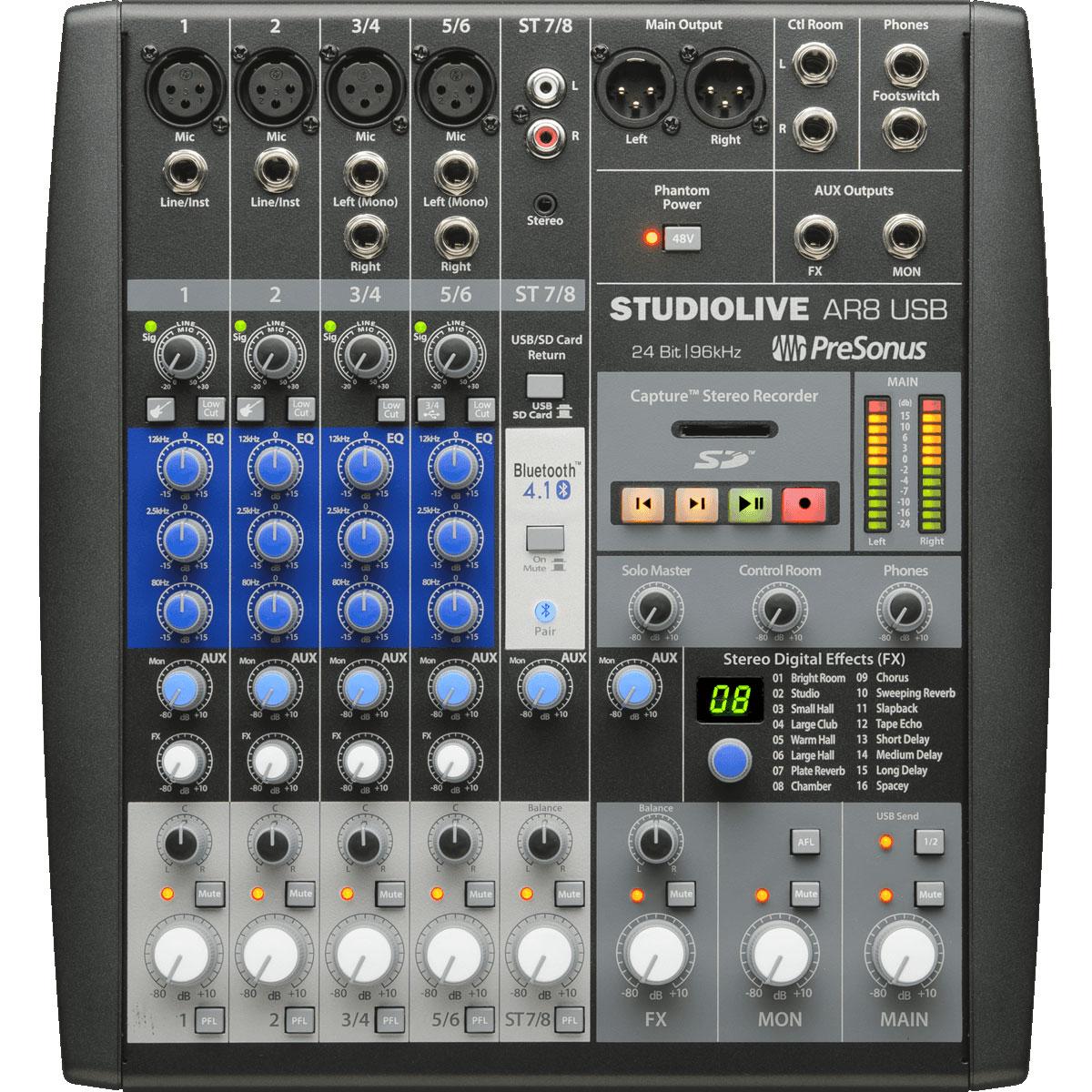 Presonus Studiolive Ar8 Usb Table De Mixage Presonus Sur
