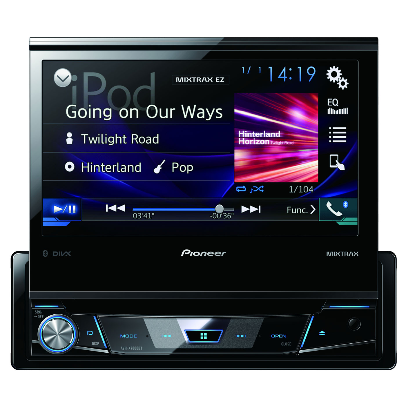 pioneer avh x7800bt autoradio pioneer sur. Black Bedroom Furniture Sets. Home Design Ideas