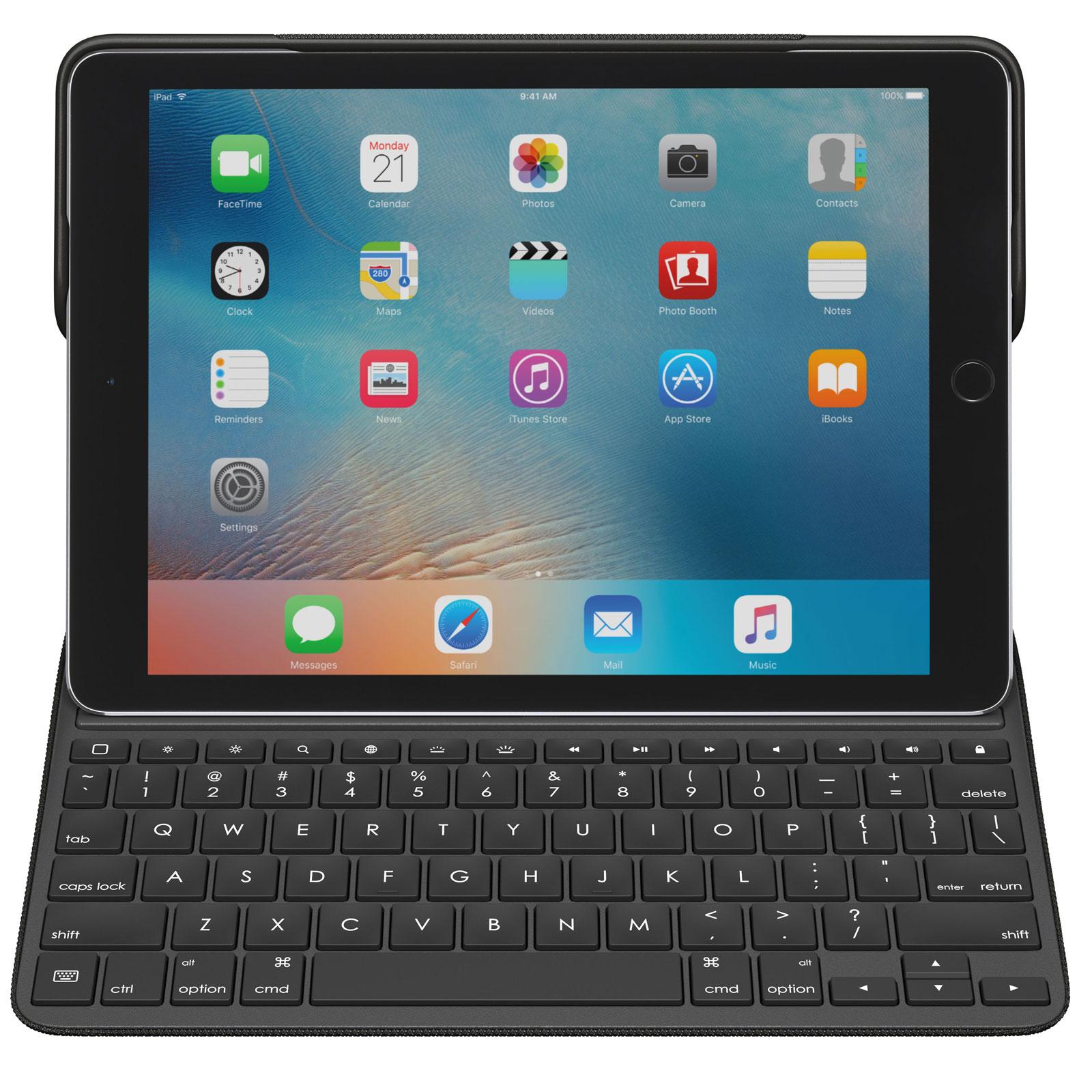 logitech create keyboard case noir ipad pro 9 7 etui tablette logitech sur. Black Bedroom Furniture Sets. Home Design Ideas