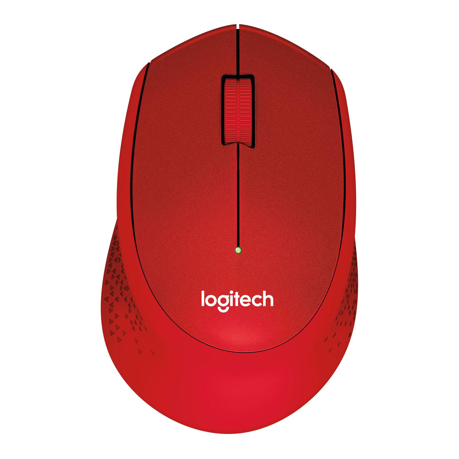 Souris PC Logitech M330 Silent Plus (Rouge) Souris sans fil - ambidextre - capteur optique 1000 dpi - 3 boutons