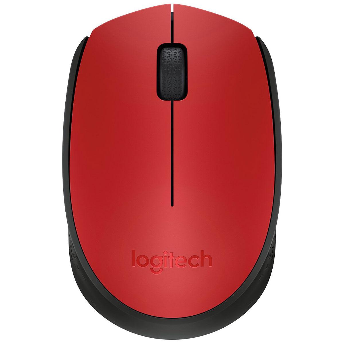 Souris PC Logitech M171 Wireless Mouse (Rouge) Souris sans fil - ambidextre - capteur optique - 3 boutons
