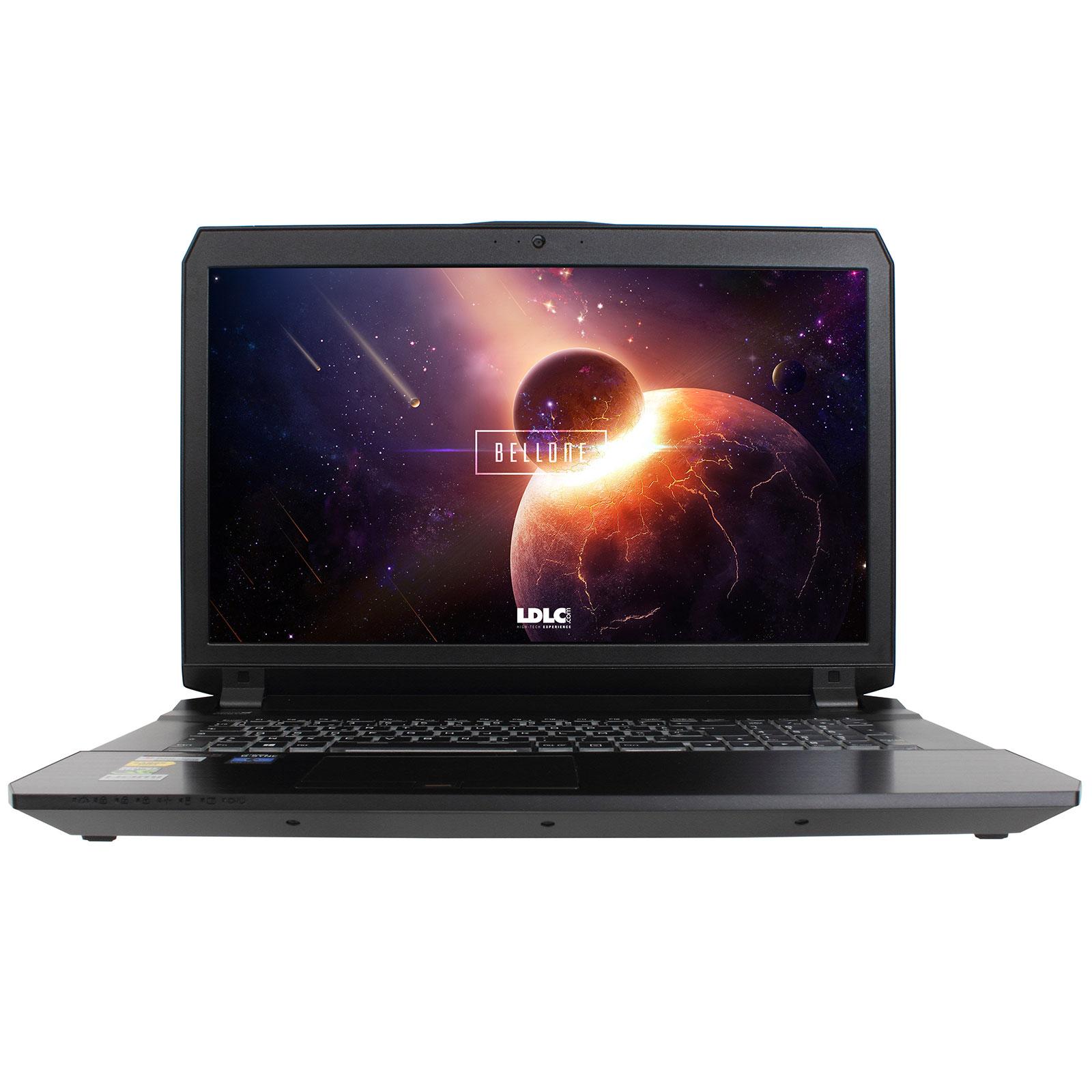 "PC portable LDLC Bellone Z70B-I7-32-H40S10-P10 Intel Core i7-6700HQ 32 Go SSD 1 To + HDD 4 To (2x 2 To) 17.3"" LED Full HD G-SYNC NVIDIA GeForce GTX 1070 8 Go Wi-Fi N/Bluetooth Webcam Windows 10 Professionnel 64 bits"