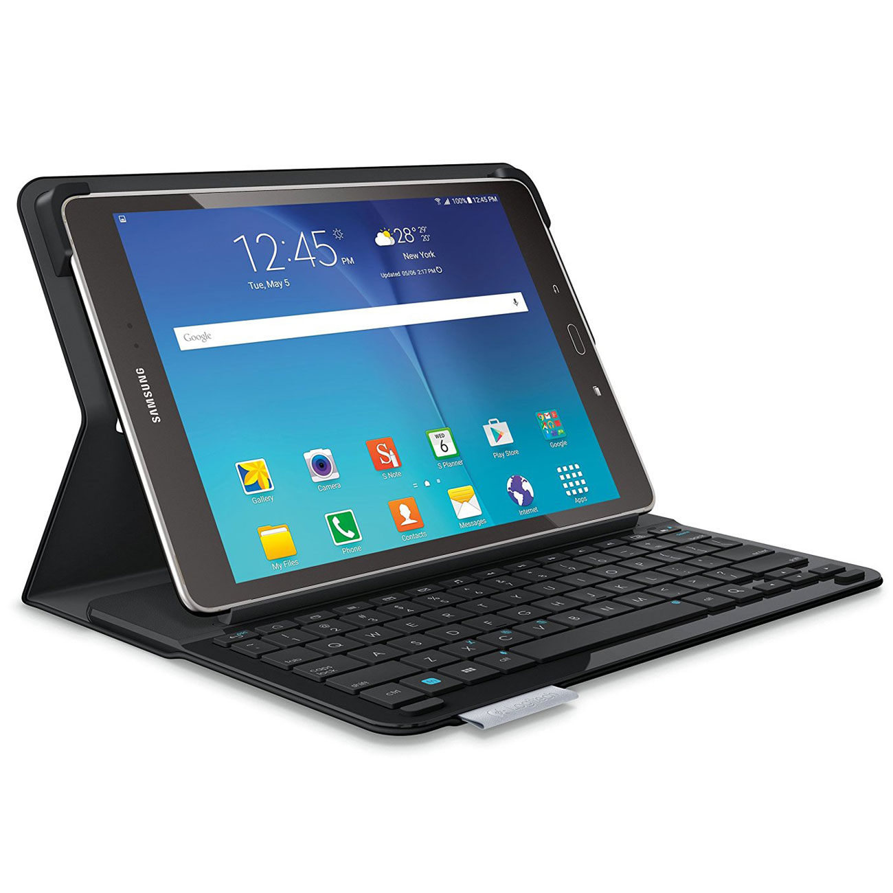 logitech type s noir samsung galaxy tab s2 9 7 etui tablette logitech sur. Black Bedroom Furniture Sets. Home Design Ideas