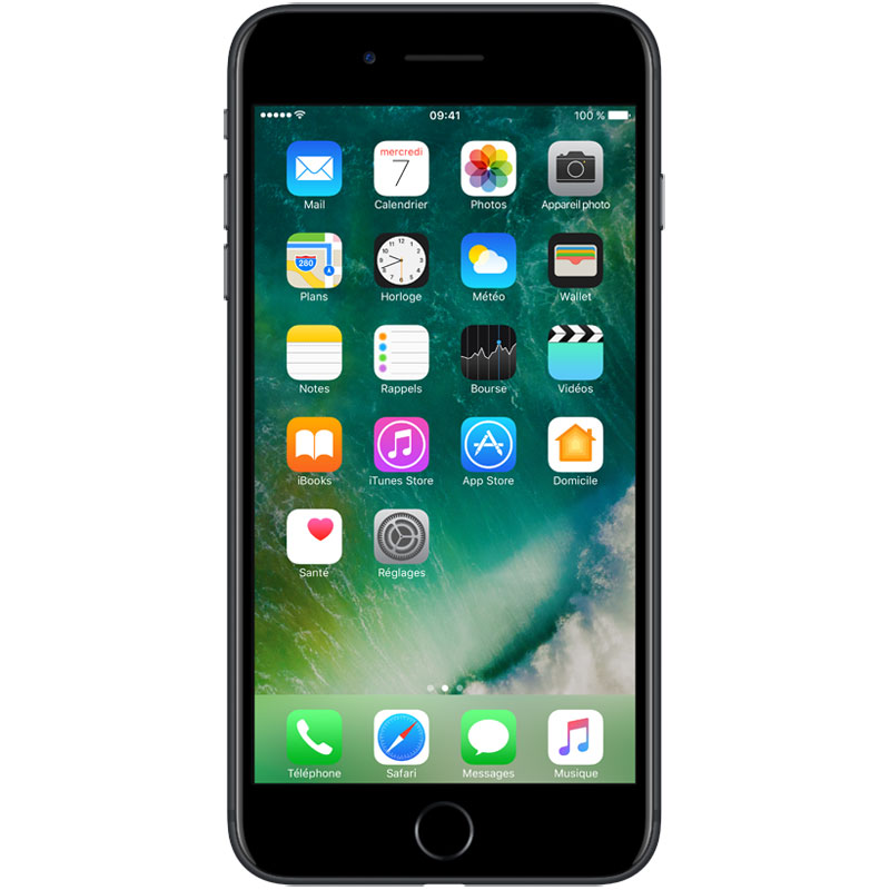 "Mobile & smartphone Apple iPhone 7 Plus 128 Go Noir Smartphone 4G-LTE Advanced IP67 - Apple A10 Fusion Quad-Core 2.3 GHz - RAM 3 Go - Ecran Retina 5.5"" 1080 x 1920 - 128 Go - NFC/Bluetooth 4.2 - iOS 10"