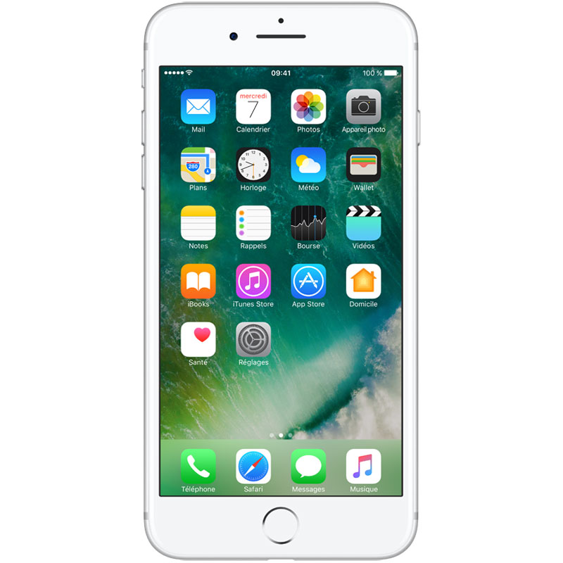 "Mobile & smartphone Apple iPhone 7 Plus 128 Go Argent Smartphone 4G-LTE Advanced IP67 - Apple A10 Fusion Quad-Core 2.3 GHz - RAM 3 Go - Ecran Retina 5.5"" 1080 x 1920 - 128 Go - NFC/Bluetooth 4.2 - iOS 10"