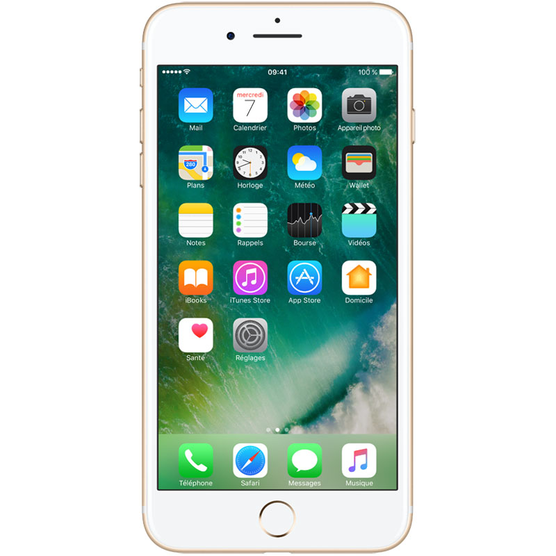 "Mobile & smartphone Apple iPhone 7 Plus 128 Go Or Smartphone 4G-LTE Advanced IP67 - Apple A10 Fusion Quad-Core 2.3 GHz - RAM 3 Go - Ecran Retina 5.5"" 1080 x 1920 - 128 Go - NFC/Bluetooth 4.2 - iOS 10"