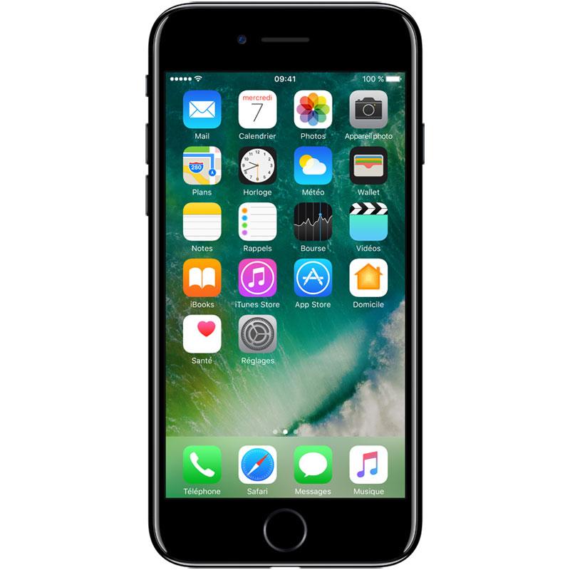 "Mobile & smartphone Apple iPhone 7 256 Go Noir de Jais Smartphone 4G-LTE Advanced IP67 - Apple A10 Fusion Quad-Core 2.3 GHz - RAM 2 Go - Ecran Retina 4.7"" 750 x 1334 - 256 Go - NFC/Bluetooth 4.2 - iOS 10"