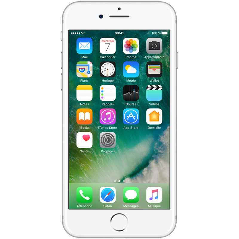 "Mobile & smartphone Apple iPhone 7 256 Go Argent Smartphone 4G-LTE Advanced IP67 - Apple A10 Fusion Quad-Core 2.3 GHz - RAM 2 Go - Ecran Retina 4.7"" 750 x 1334 - 256 Go - NFC/Bluetooth 4.2 - iOS 10"