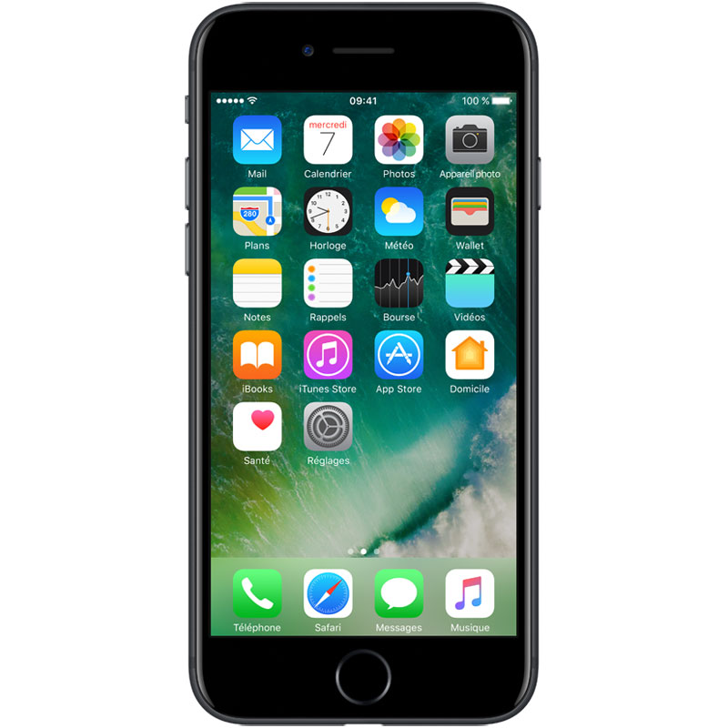"Mobile & smartphone Apple iPhone 7 32 Go Noir Smartphone 4G-LTE Advanced IP67 - Apple A10 Fusion Quad-Core 2.3 GHz - RAM 2 Go - Ecran Retina 4.7"" 750 x 1334 - 32 Go - NFC/Bluetooth 4.2 - iOS 10"