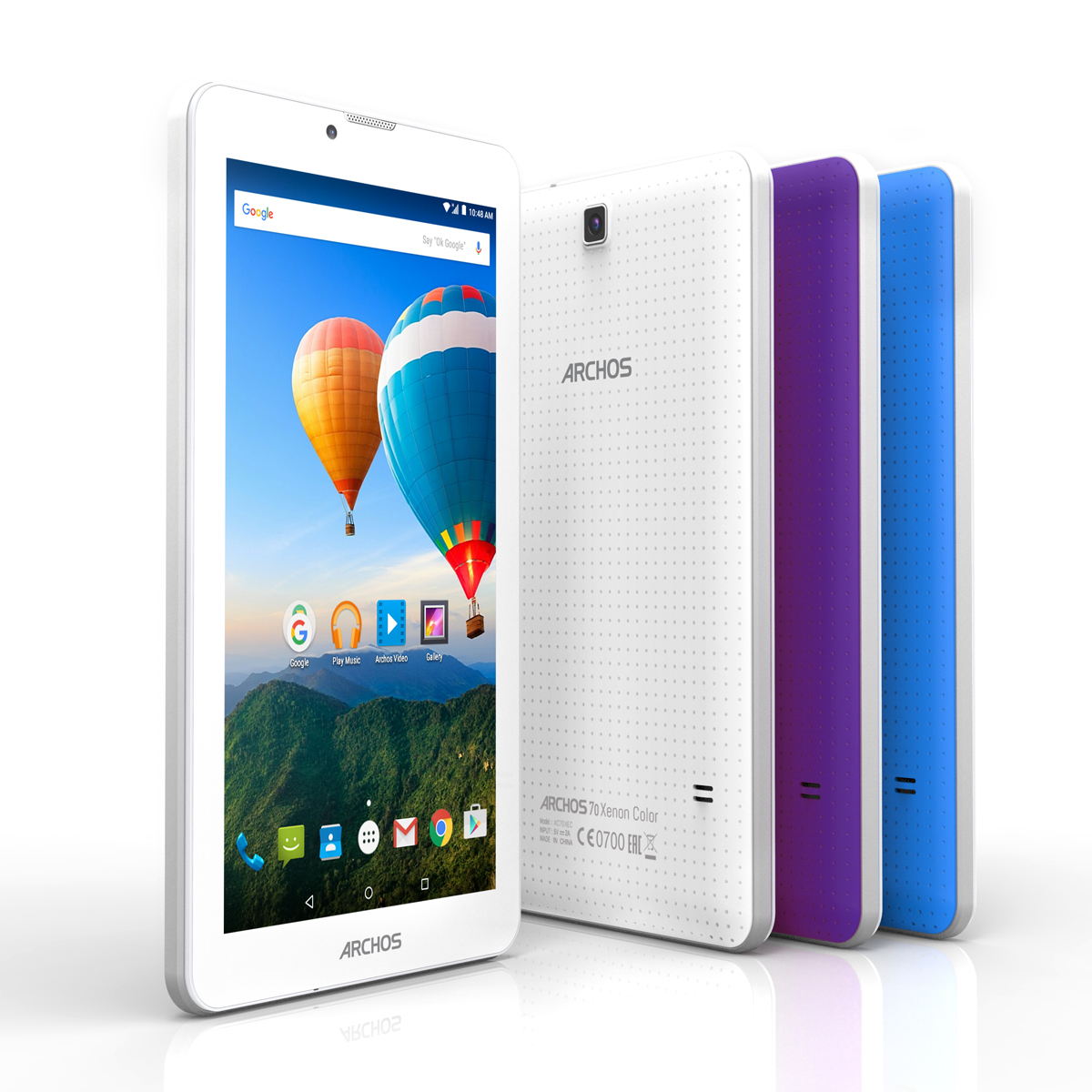 "Tablette tactile Archos 70 Xenon Color 8 Go Tablette Internet 3G - Mediatek MT8321 Quad-Core 1.3 GHz 1 Go 8 Go 7"" IPS tactile Wi-Fi/Bluetooth/Webcam Android 5.1"