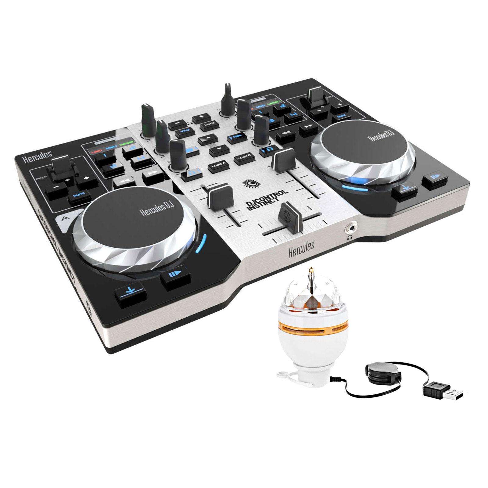 hercules djcontrol instinct party pack table de mixage hercules sur. Black Bedroom Furniture Sets. Home Design Ideas