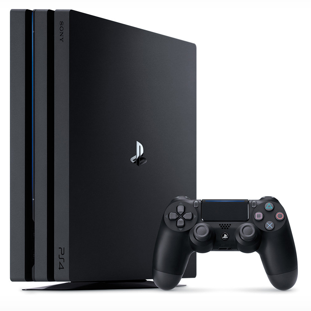 sony playstation 4 pro 1 to noir console ps4 sony. Black Bedroom Furniture Sets. Home Design Ideas