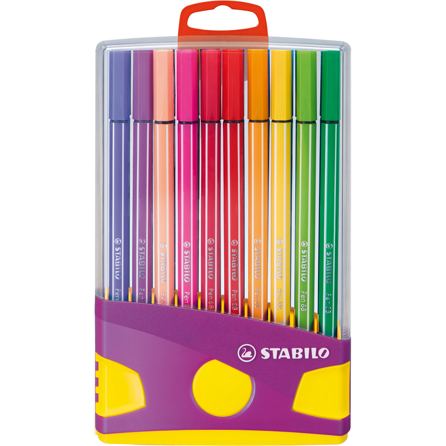 stabilo colorparade pen 68 lilas x 20 assortis stylo. Black Bedroom Furniture Sets. Home Design Ideas