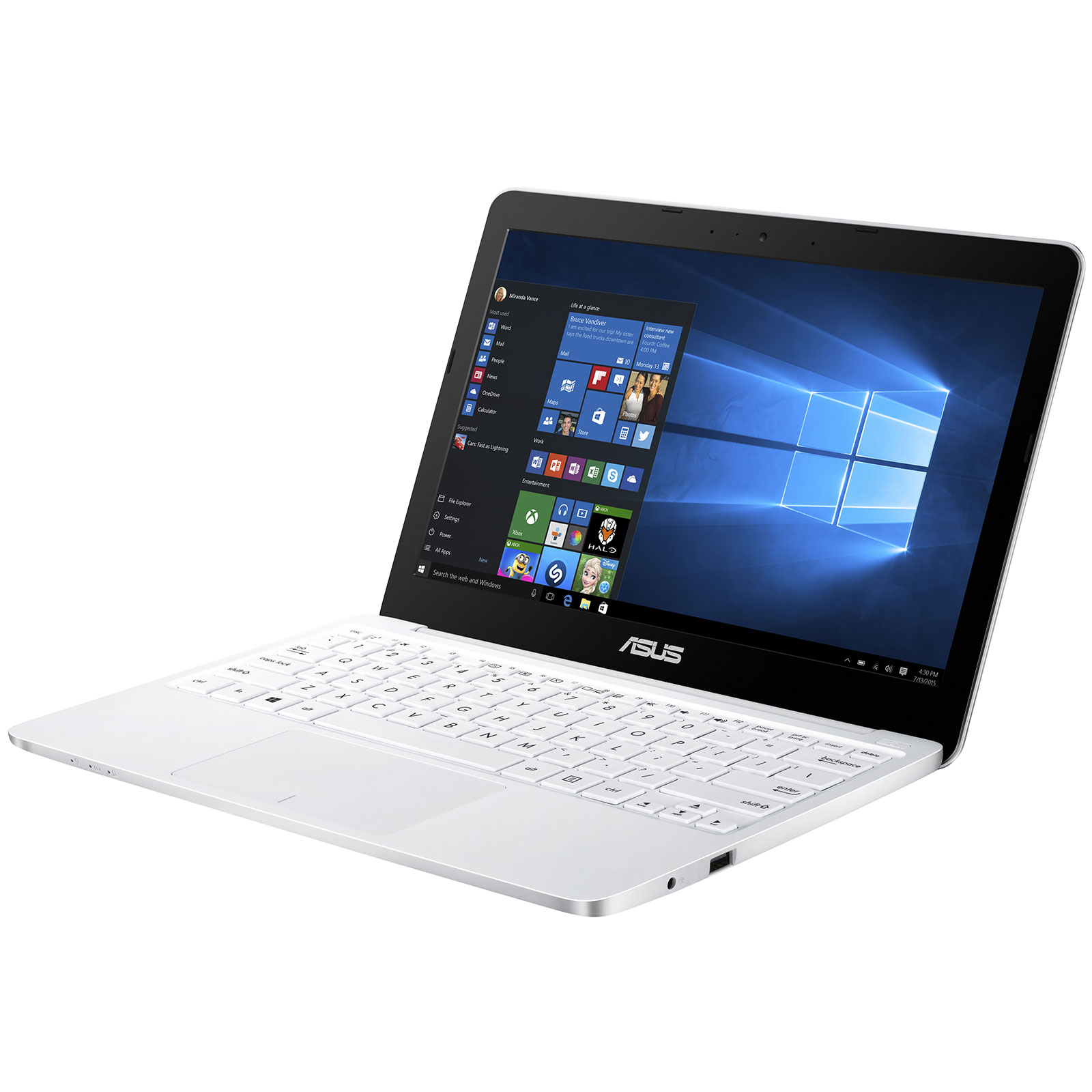 asus eeebook x206ha fd0088t blanc pc portable asus sur. Black Bedroom Furniture Sets. Home Design Ideas