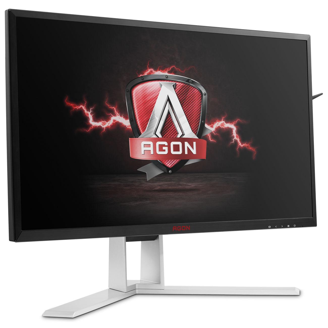 """Ecran PC AOC 27"""" LED - AGON AG271QG G-SYNC 2560 x 1440 pixels - 4 ms (gris à gris) - Format large 16/9 - Dalle IPS - 144 Hz - G-SYNC - DisplayPort - HDMI - Pivot - Hub 3.0 - Noir/Rouge/Argent"""