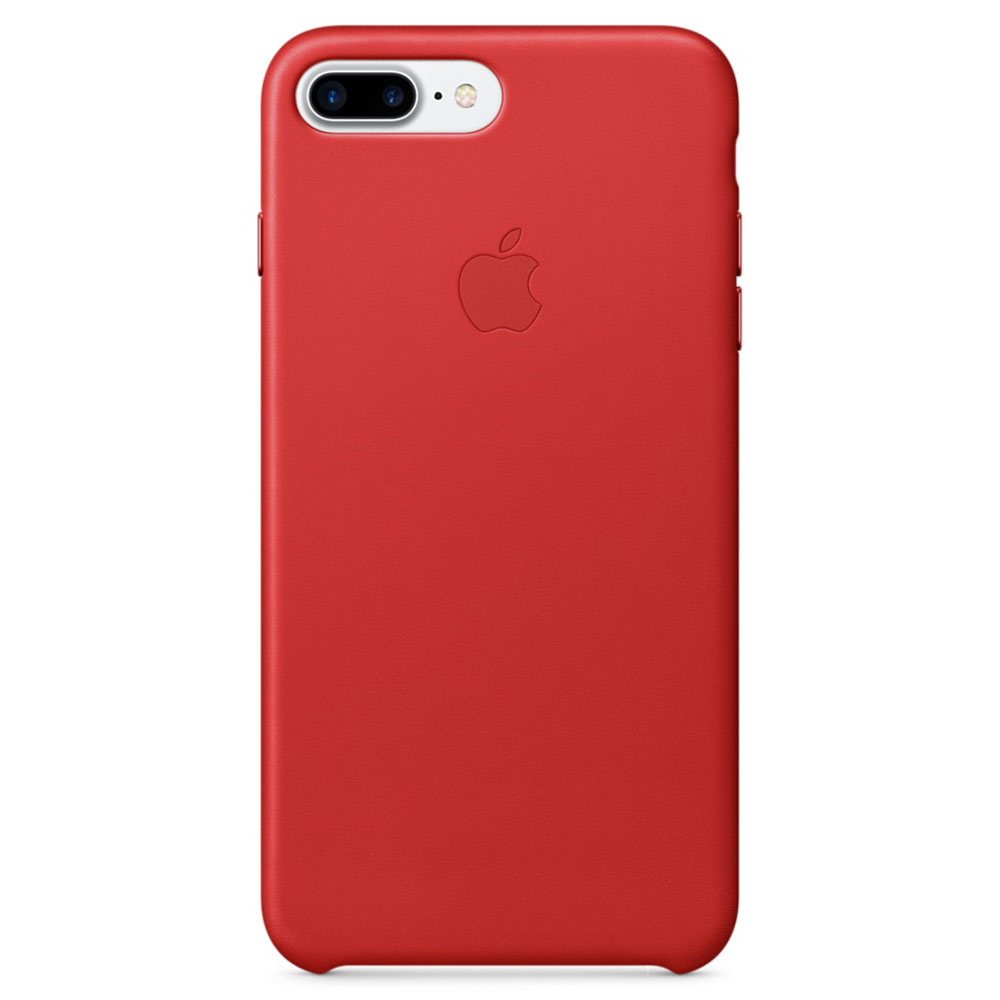 Apple Coque en cuir Rouge Apple iPhone 7 Plus