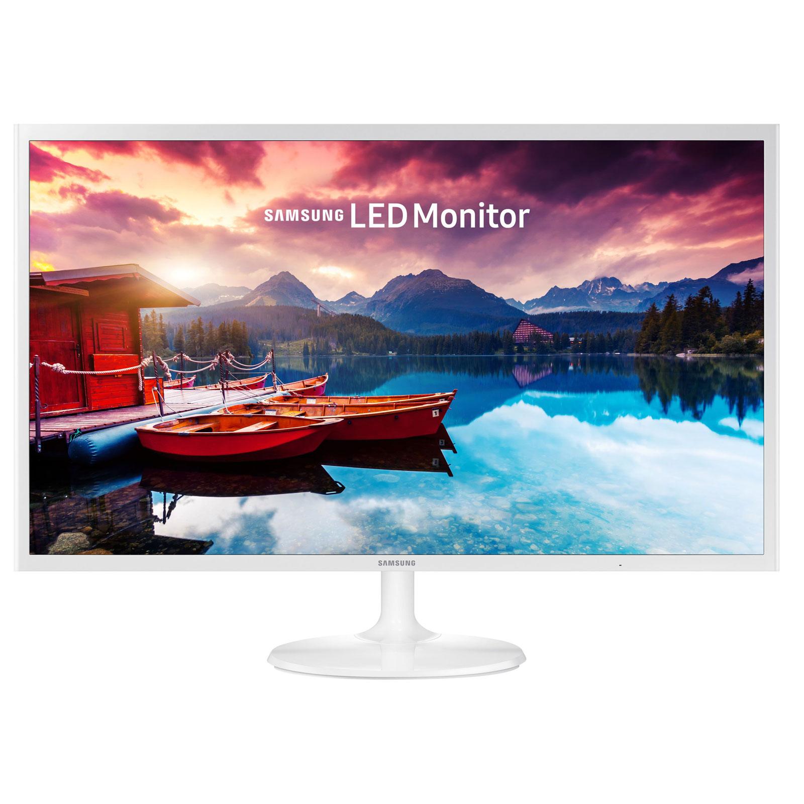 """Ecran PC Samsung 32"""" LED - S32F351H 1920 x 1080 pixels - 5 ms (gris à gris) - Format large 16/9 - HDMI - Blanc (garantie constructeur 3 ans)"""