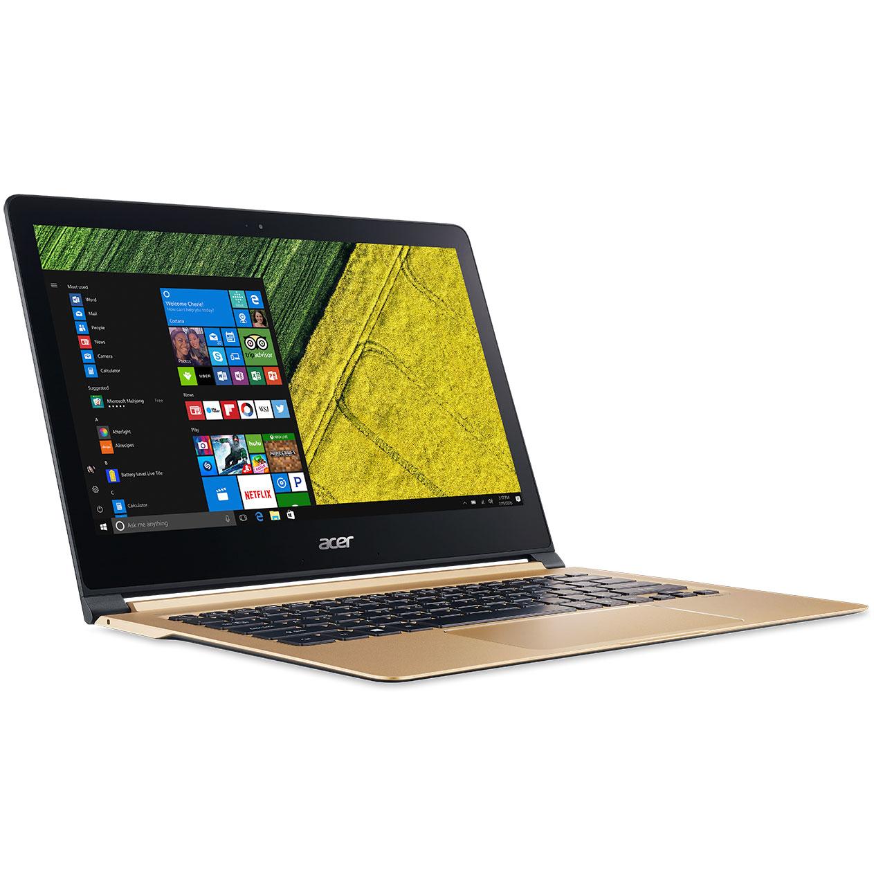 """PC portable Acer Swift 7 SF713-51-M8EJ Or Intel Core i5-7Y54 8 Go SSD 256 Go 13.3"""" LED Full HD Wi-Fi AC/Bluetooth Webcam Windows 10 Professionnel 64 bits"""