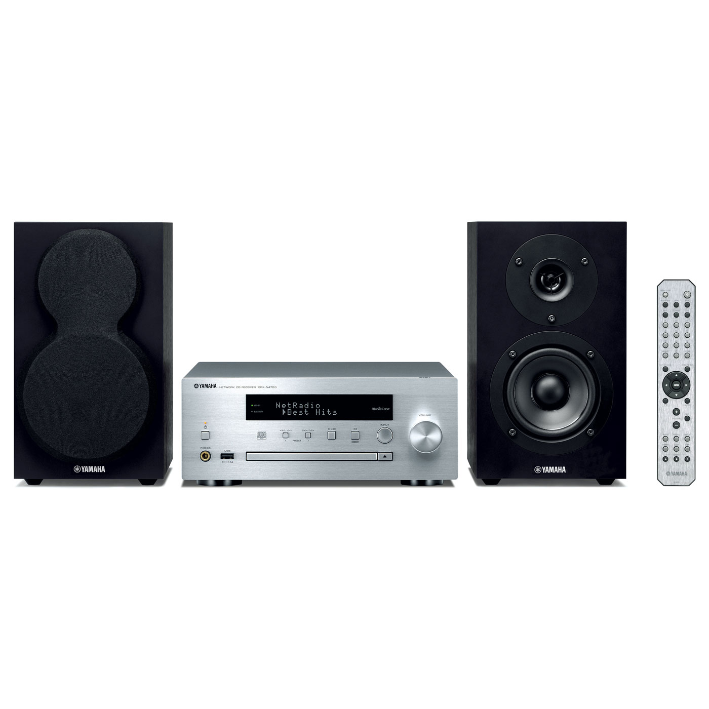 yamaha musiccast mcr n470d argent cha ne hifi yamaha sur. Black Bedroom Furniture Sets. Home Design Ideas