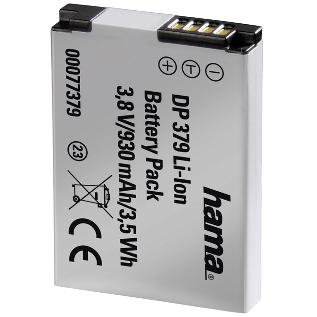 hama batterie li ion dp 379 930 mah 3 8 v batterie compatible hama sur. Black Bedroom Furniture Sets. Home Design Ideas