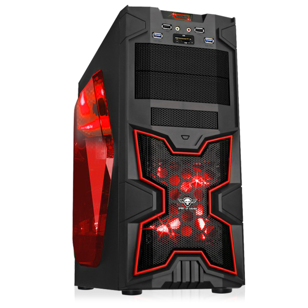 spirit of gamer x fighters 41 rouge bo tier pc spirit. Black Bedroom Furniture Sets. Home Design Ideas
