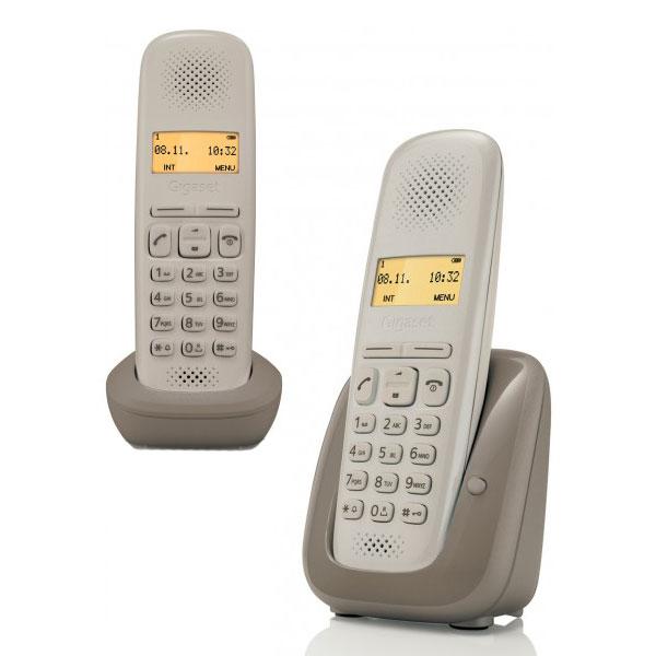 Téléphone sans fil Gigaset A150 Duo Umbra Taupe Téléphone DECT sans fil avec combiné supplémentaire (version française)