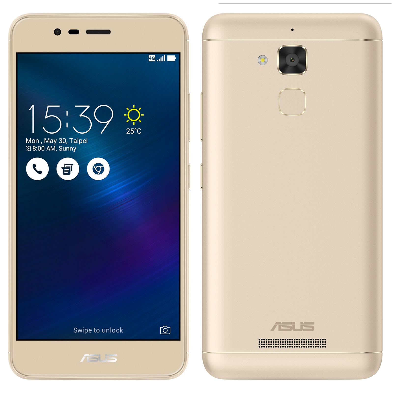 "Mobile & smartphone ASUS ZenFone 3 Max ZC520TL Or Smartphone 4G-LTE Dual SIM - MediaTek MT6737 Quad-Core 1.3 GHz - RAM 3 Go - Ecran tactile 5.2"" 720 x 1280 - 32 Go - Bluetooth 4.0 - 4130 mAh - Android 6.0"