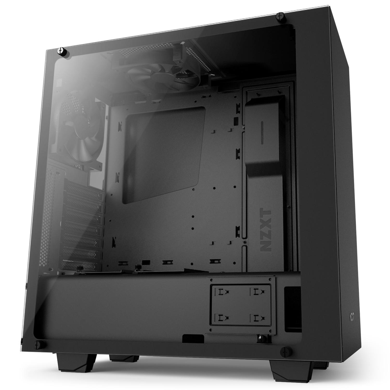 Boîtier PC NZXT S340 Elite (Noir) Boîtier moyen tour avec fenêtre latérale