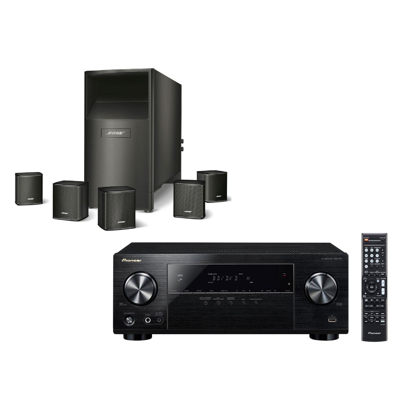 Pioneer Vsx 531b Bose Acoustimass 6 S Ries V Noir Ensemble  # Meuble Tv Home Cinema Integre Bose