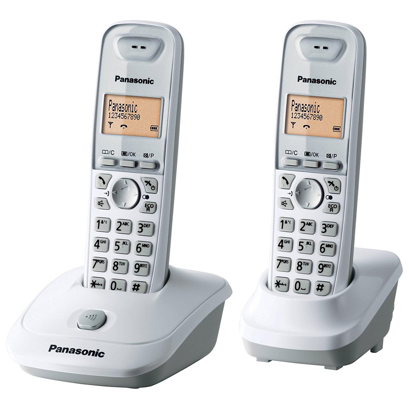 panasonic kx tg2512fr duo blanc t l phone sans fil panasonic sur. Black Bedroom Furniture Sets. Home Design Ideas