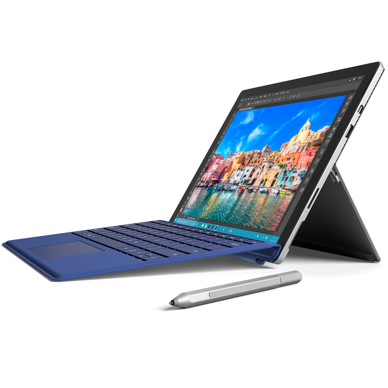 microsoft type cover surface pro 4 bleu accessoires pc portable microsoft sur. Black Bedroom Furniture Sets. Home Design Ideas