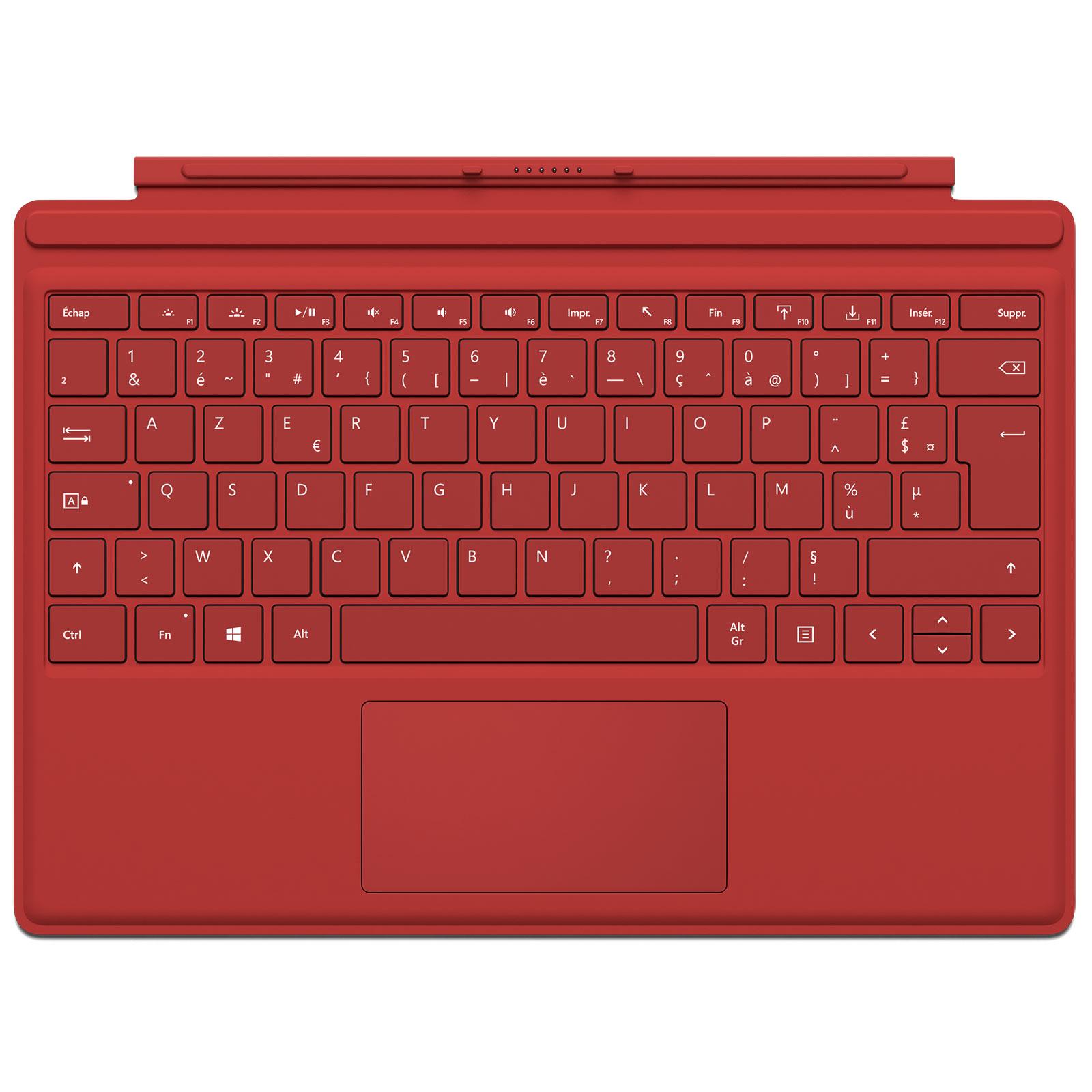 microsoft type cover surface pro 4 rouge accessoires pc portable microsoft sur. Black Bedroom Furniture Sets. Home Design Ideas