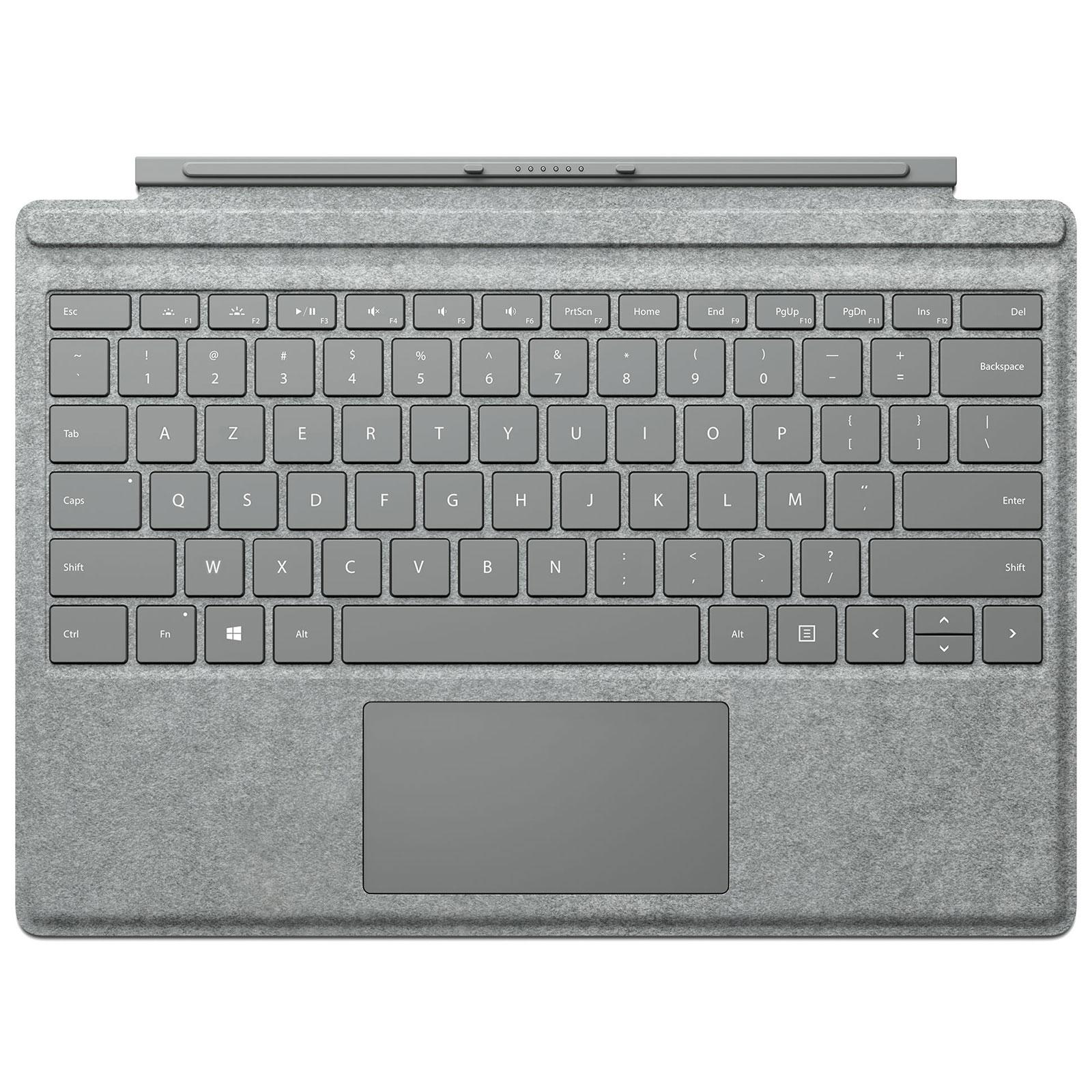 microsoft type cover surface pro 4 gris alcantara accessoires pc portable microsoft sur. Black Bedroom Furniture Sets. Home Design Ideas