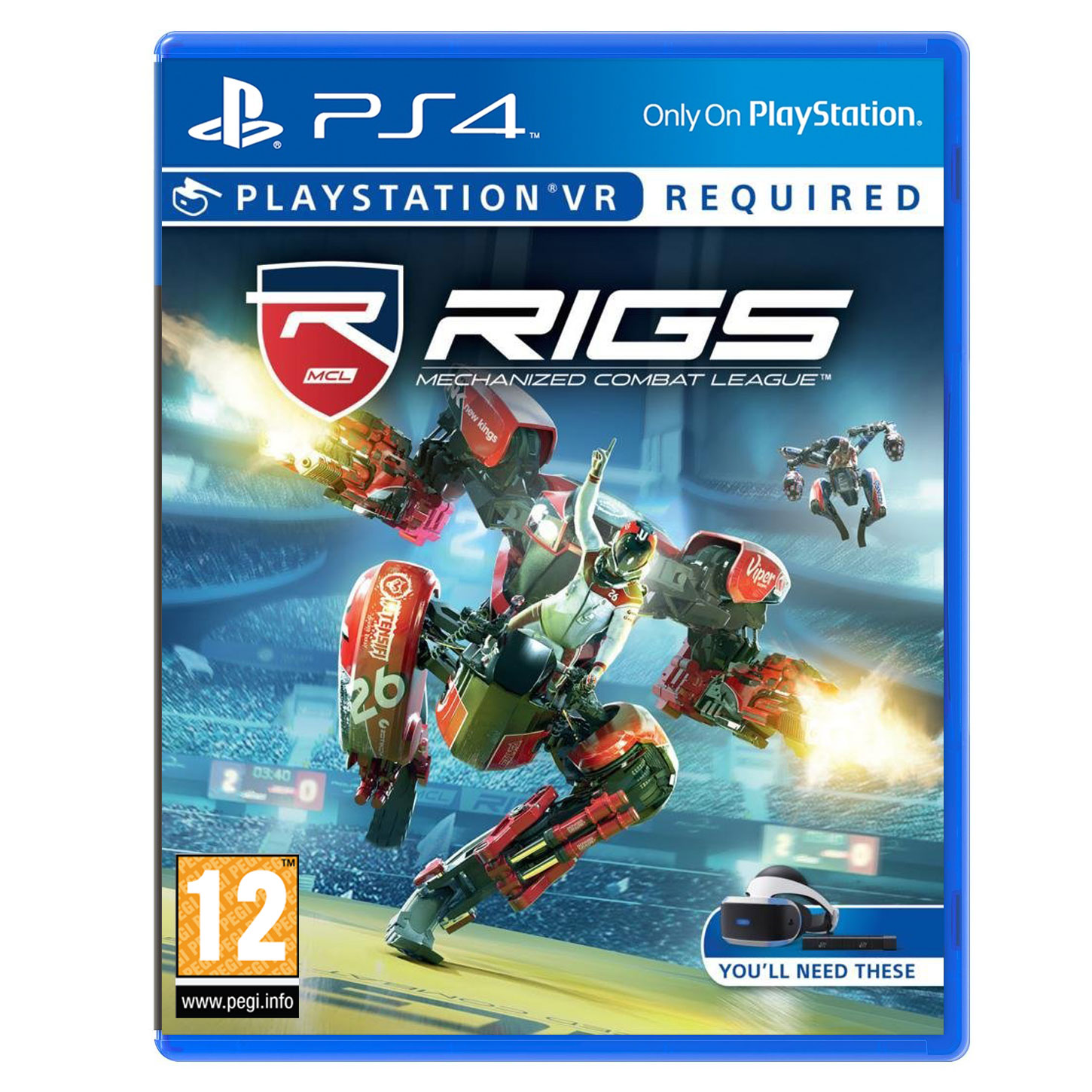 rigs mechanized combat league ps vr jeux ps4 sony. Black Bedroom Furniture Sets. Home Design Ideas