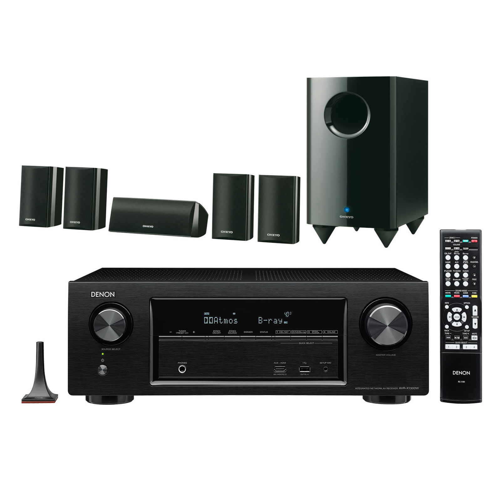 denon avr x1300w noir onkyo sks ht528 ensemble home cin ma denon sur. Black Bedroom Furniture Sets. Home Design Ideas