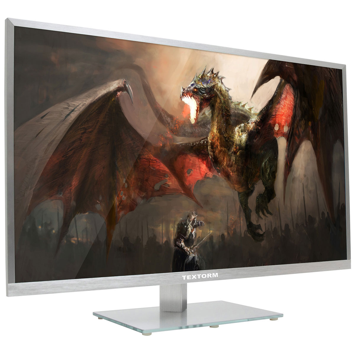 "Ecran PC Textorm 31.5"" LED - TX32 2560 x 1440 pixels - 8 ms - Format large 16/9 - Dalle VA - HDMI - Argent"