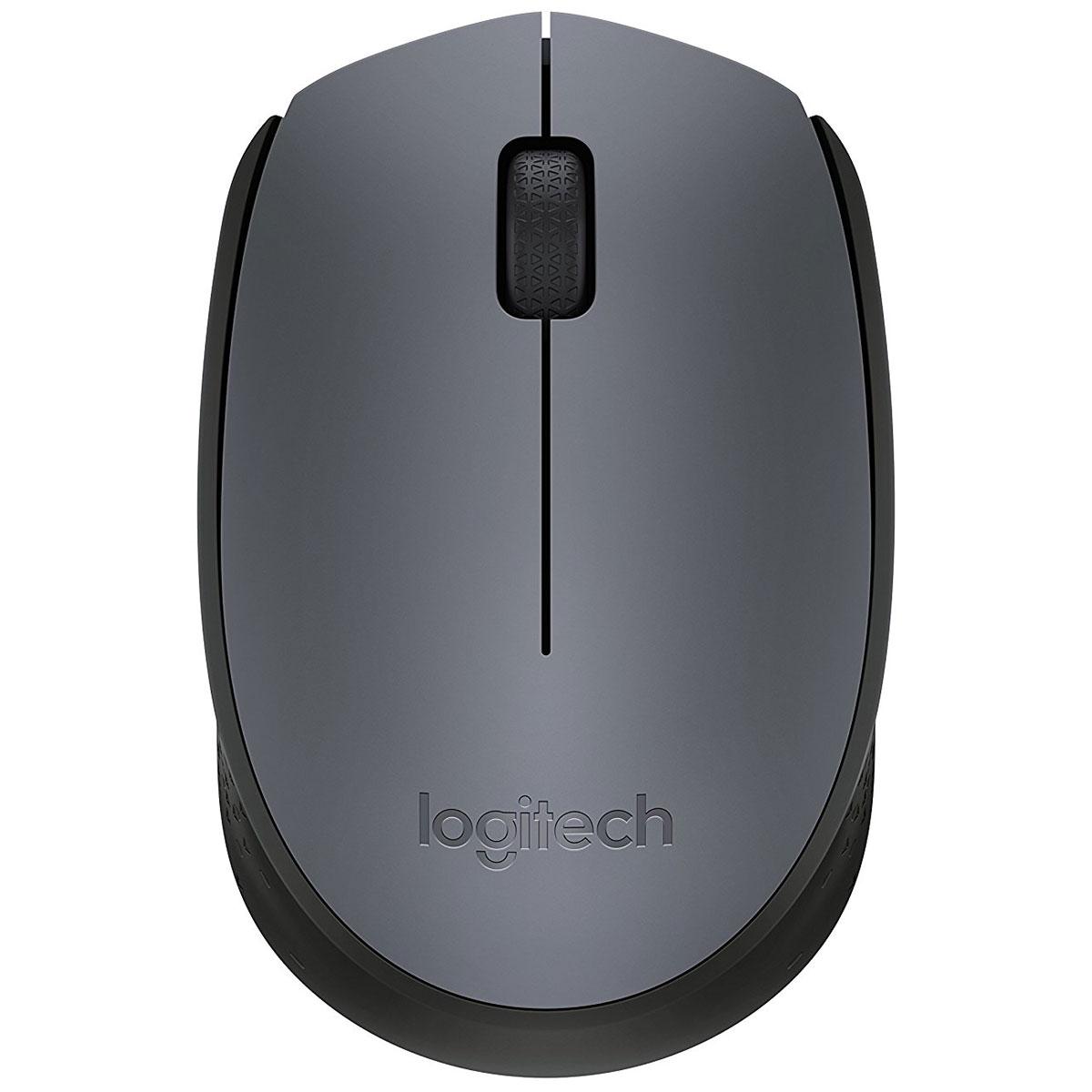 Souris PC Logitech M170 Wireless Mouse (Gris) Souris sans fil - ambidextre - capteur optique - 3 boutons