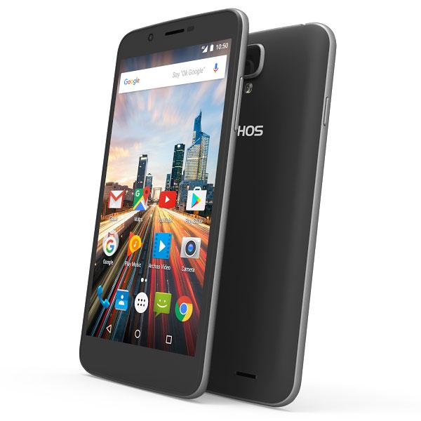 "Mobile & smartphone Archos 55 Helium Noir Smartphone 4G-LTE Dual SIM - ARM Cortex-A53 Quad-Core 1.3 GHz - RAM 1 Go - Ecran tactile 5.5"" 720 x 1280 - 16 Go - Bluetooth 4.0 - 2700 mAh - Android 6.0"