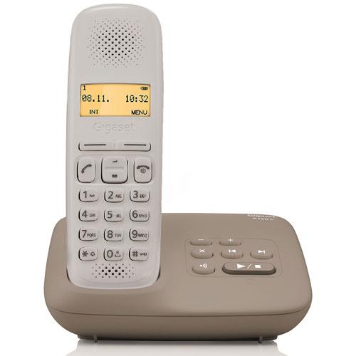Téléphone sans fil Gigaset A150A Umbra Taupe Téléphone DECT sans fil avec répondeur (version française)