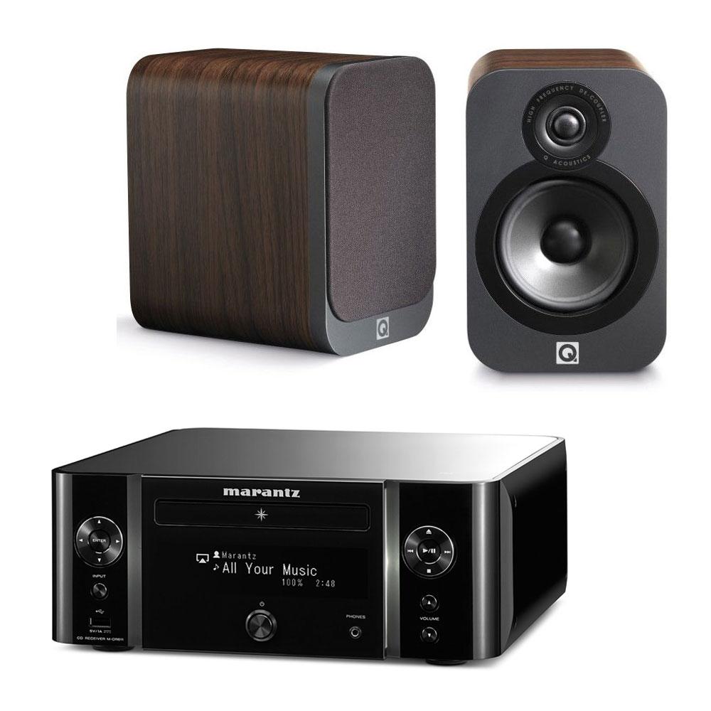 marantz melody stream m cr611 noir q acoustics 3020 bois. Black Bedroom Furniture Sets. Home Design Ideas